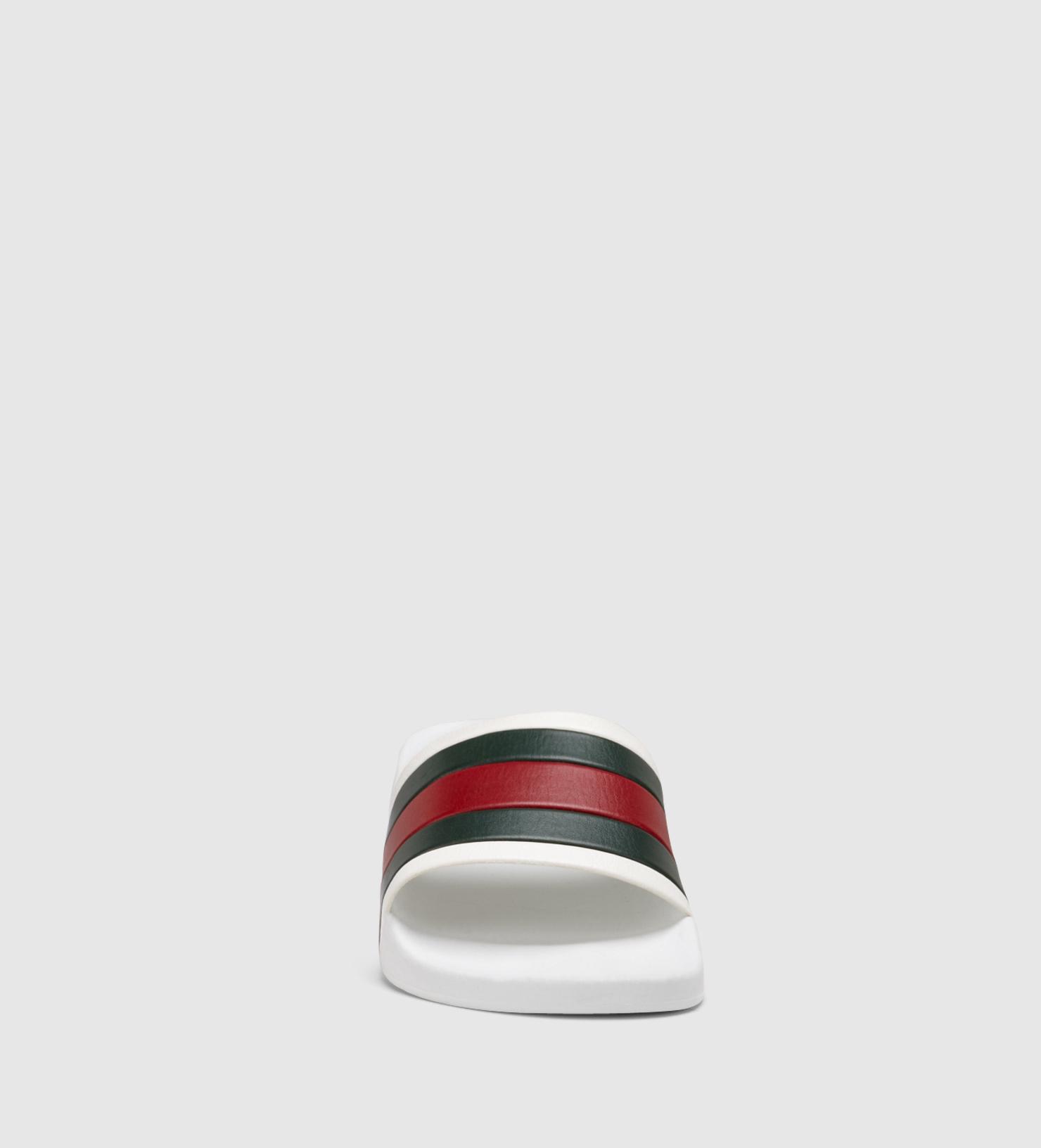 Lyst Gucci White Rubber Slide Sandal In White For Men
