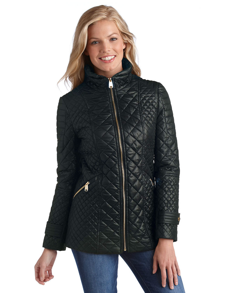 Via Spiga Quilted Jacket In Black Lyst