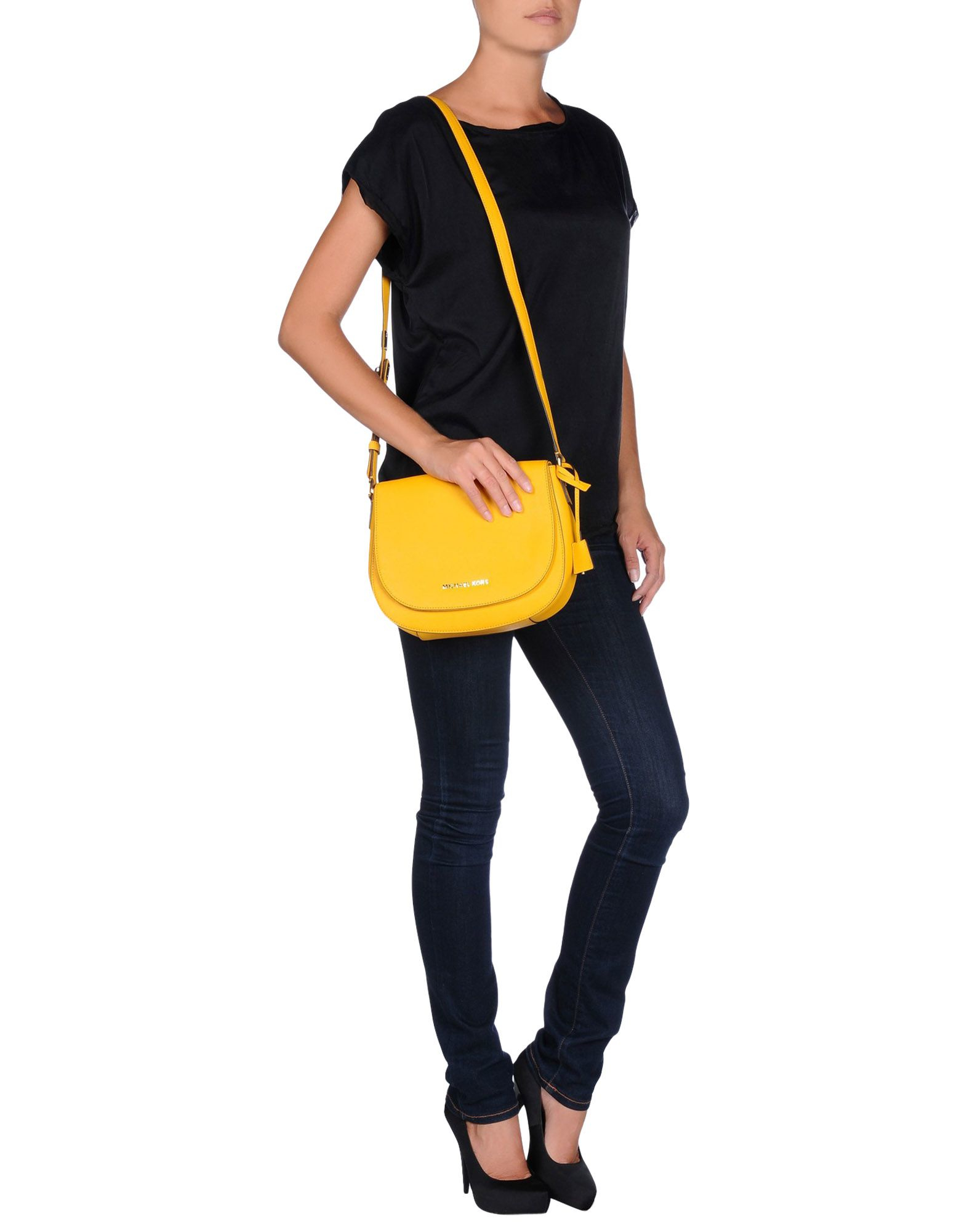 MICHAEL Michael Kors Leather Cross-body Bag in Yellow