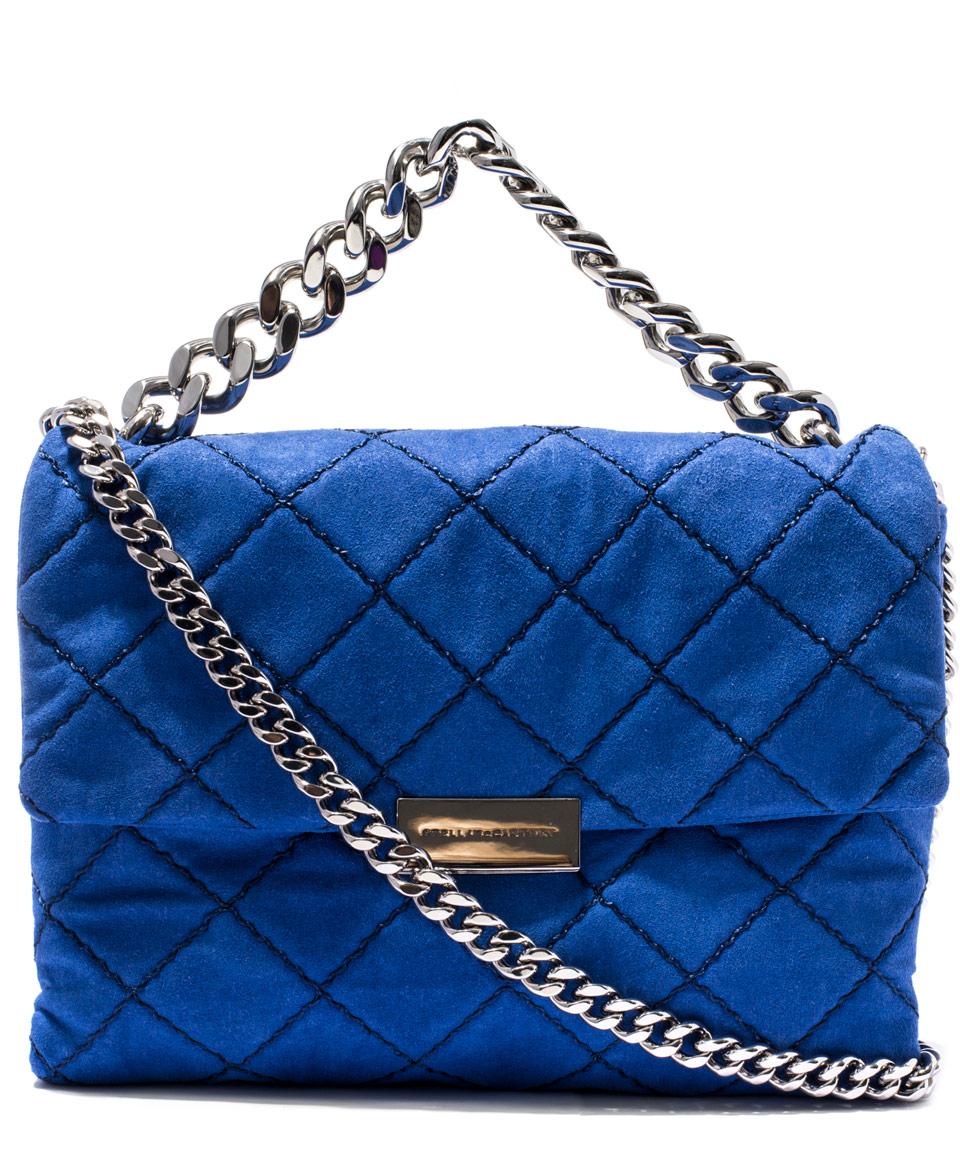 2249d0639853 Lyst - Stella McCartney Blue Soft Beckett Quilted Bag in Blue