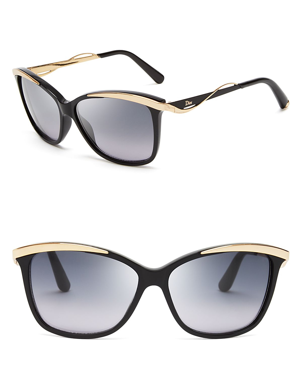 Glasses Metal Frame Dior : Dior Metaleyes Cat Eye Sunglasses in Gold (Black/Rose Gold ...