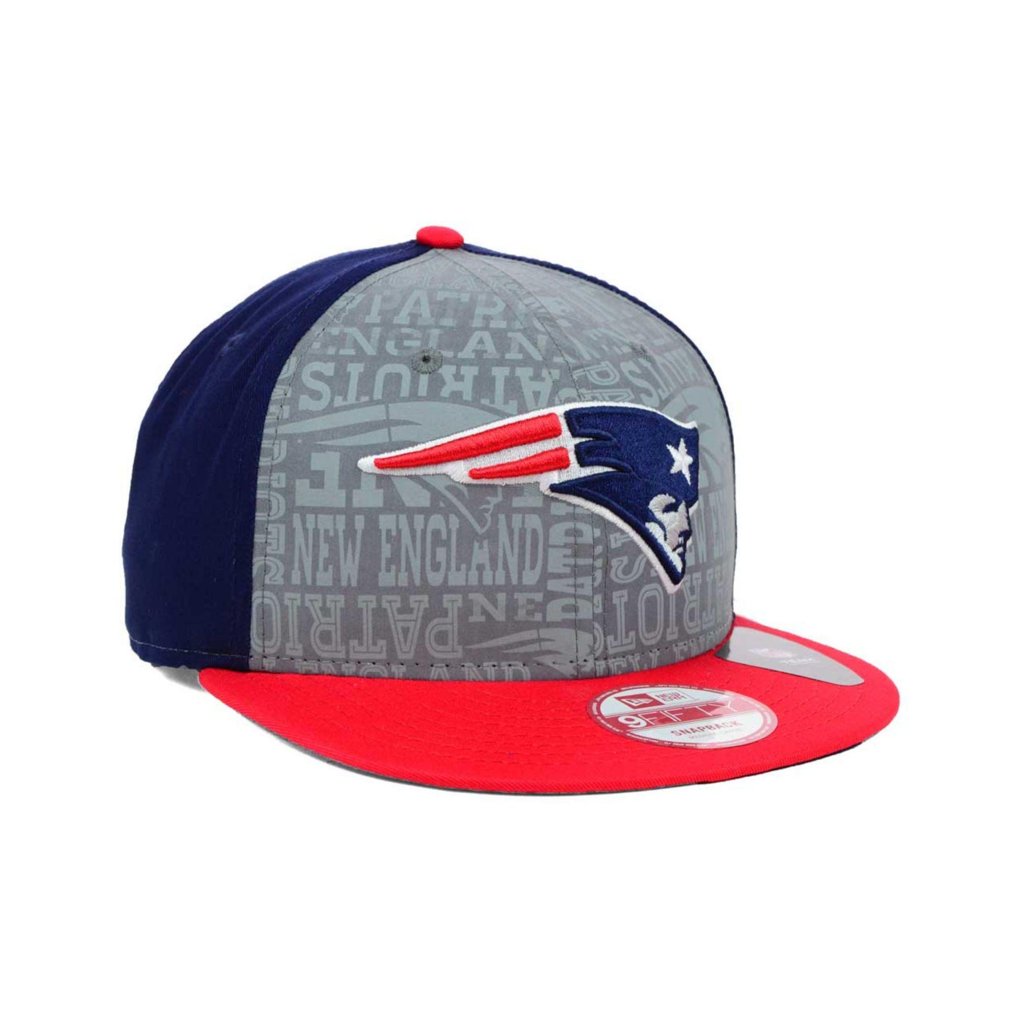 ea888ce4fa5eb KTZ Gray New England Patriots Nfl Draft 9fifty Snapback Cap for men