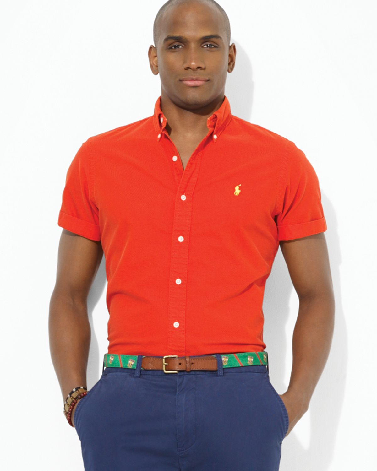 Ralph lauren Polo Custom Short-Sleeved Oxford Button Down Shirt ...