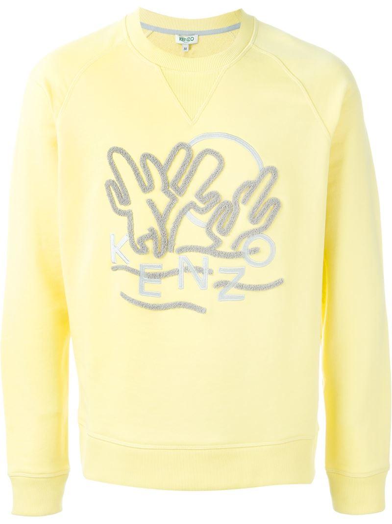 ee54c9a3 KENZO 'cactus' Sweatshirt in Yellow for Men - Lyst
