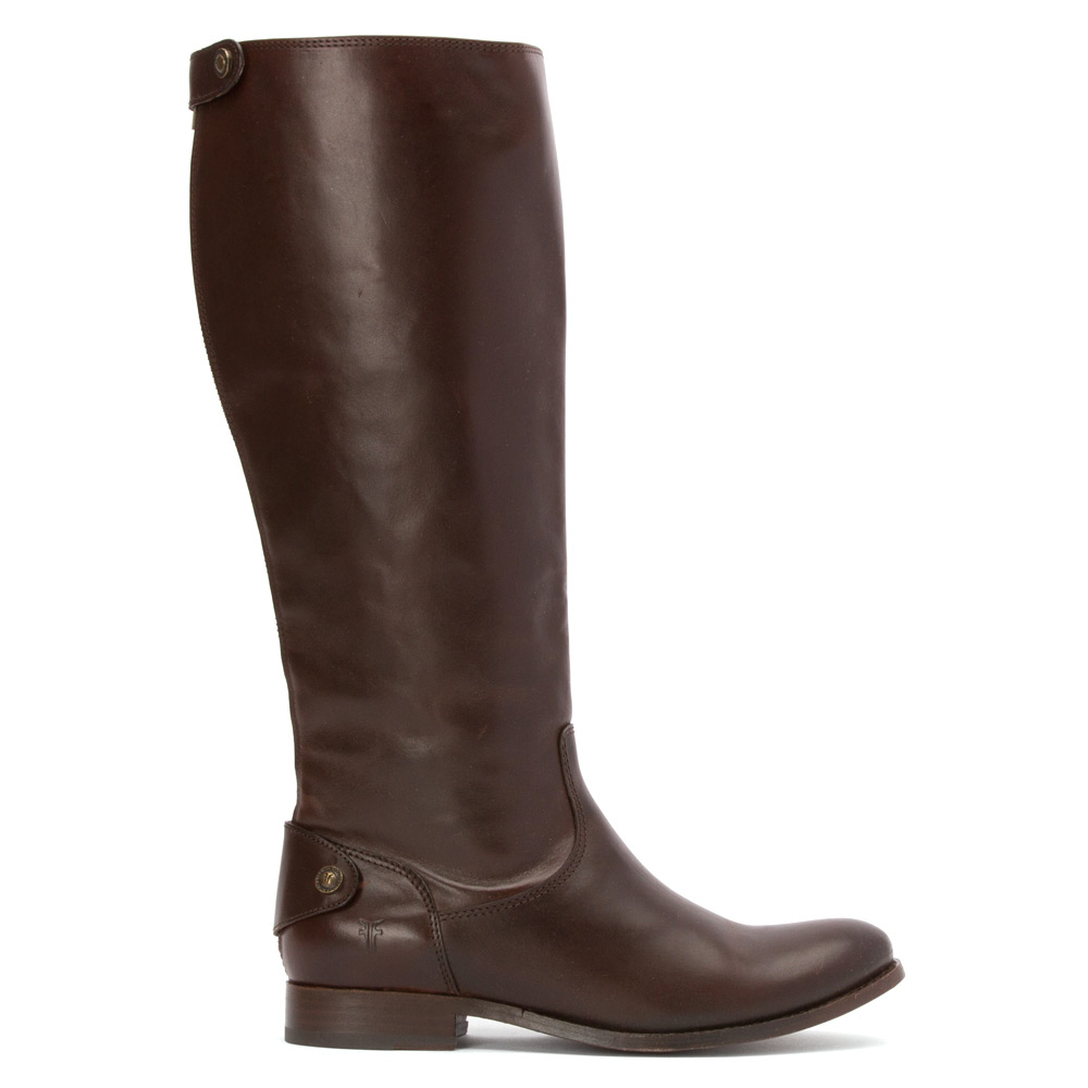 Lyst - Frye Melissa Button Wide Calf Riding Boot in Brown