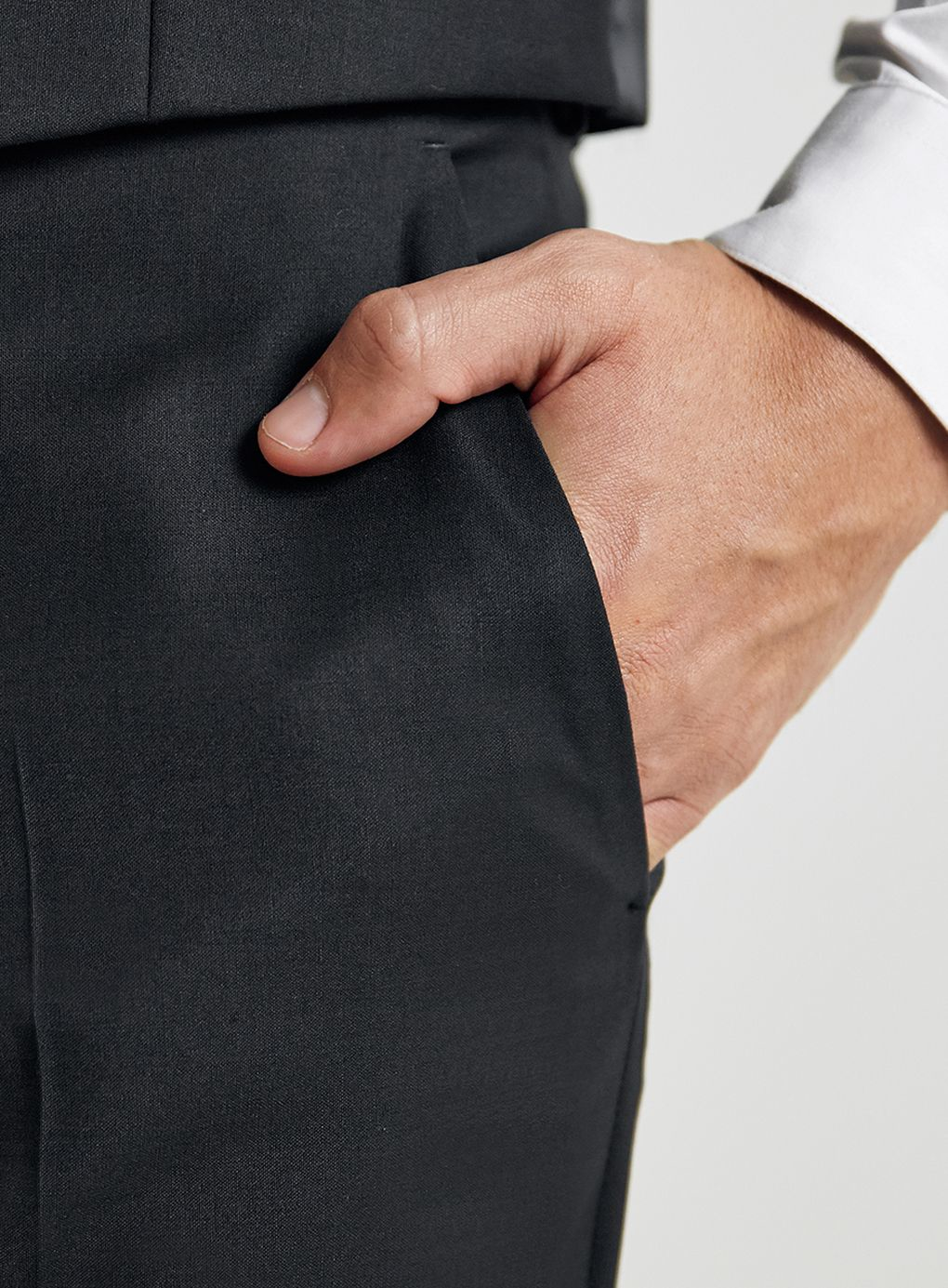 TOPMAN Premium Skinny Fit Suit Trousers in Black for Men