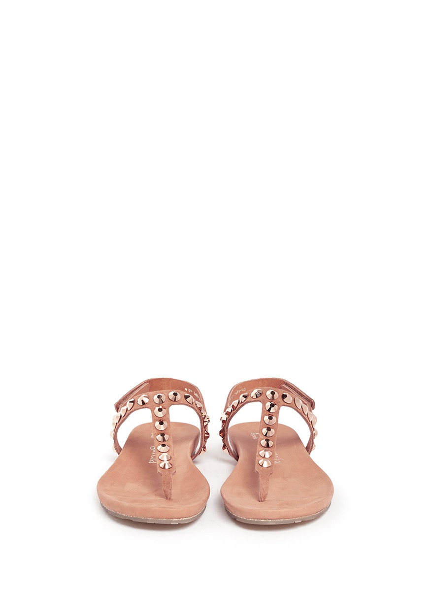 85914e1503fa50 Lyst - Pedro Garcia Judith Crystal Suede Sandals in Natural