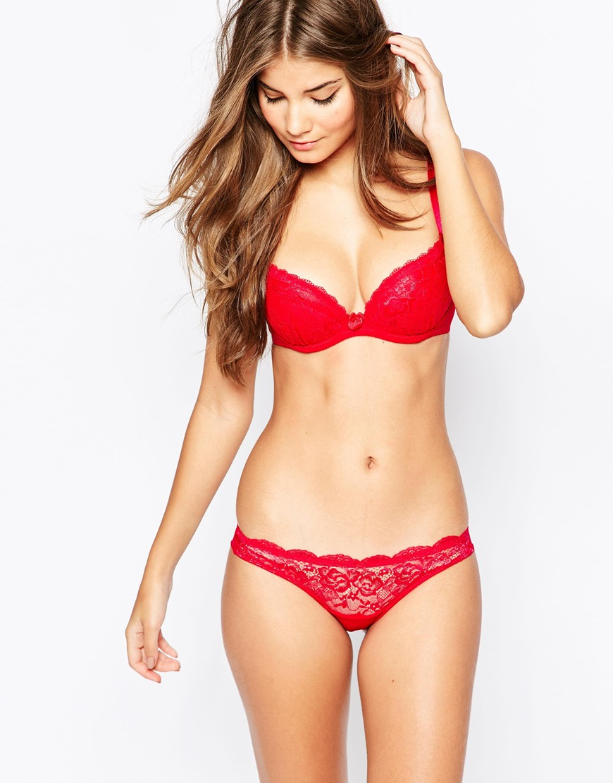 1cb17de7c7 Ann Summers Sexy Lace Plunge Bra - Red in Red - Lyst