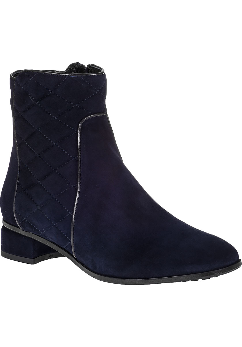 aquatalia latifa ankle boot navy suede in blue lyst