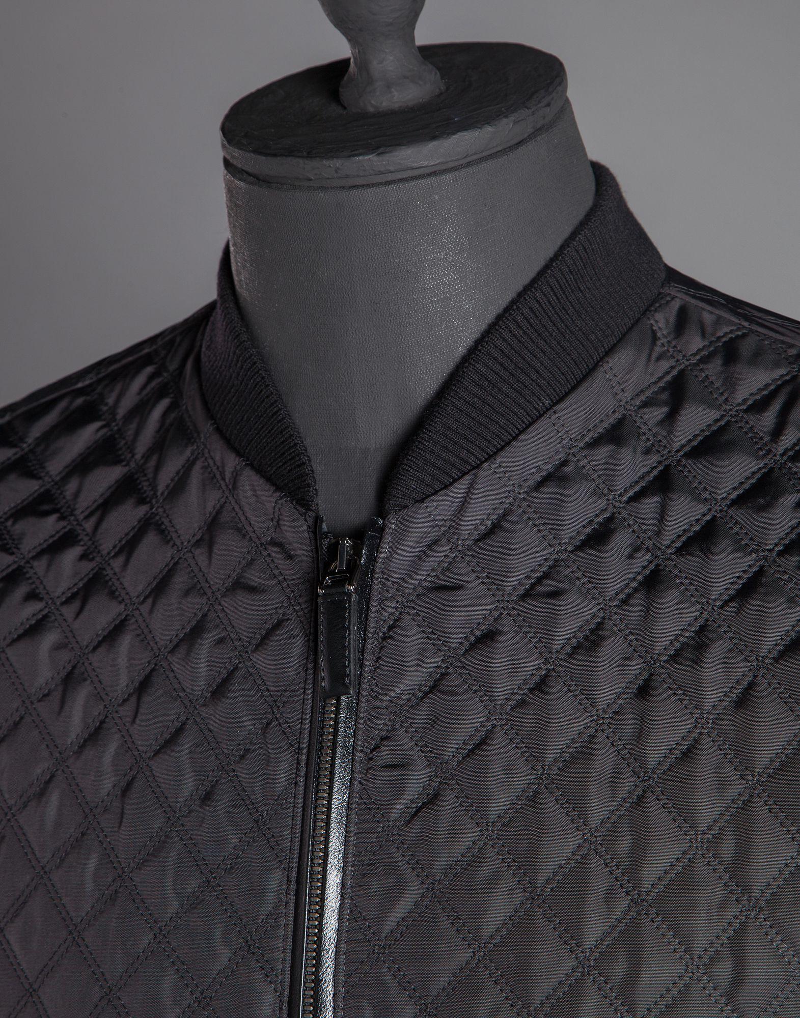 Lyst Dolce Gabbana Quilted Nylon Bomber Jacket In Black For Men