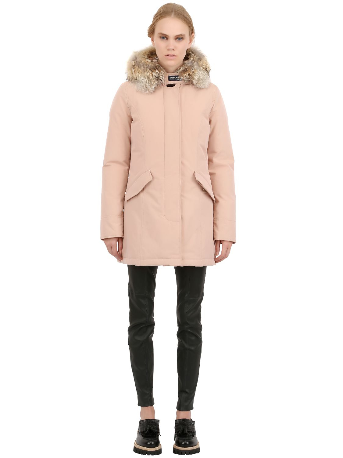 cheaper 4c857 2be44 Woolrich Byrd Cloth Woman'S Arctic Parka in Pink - Lyst