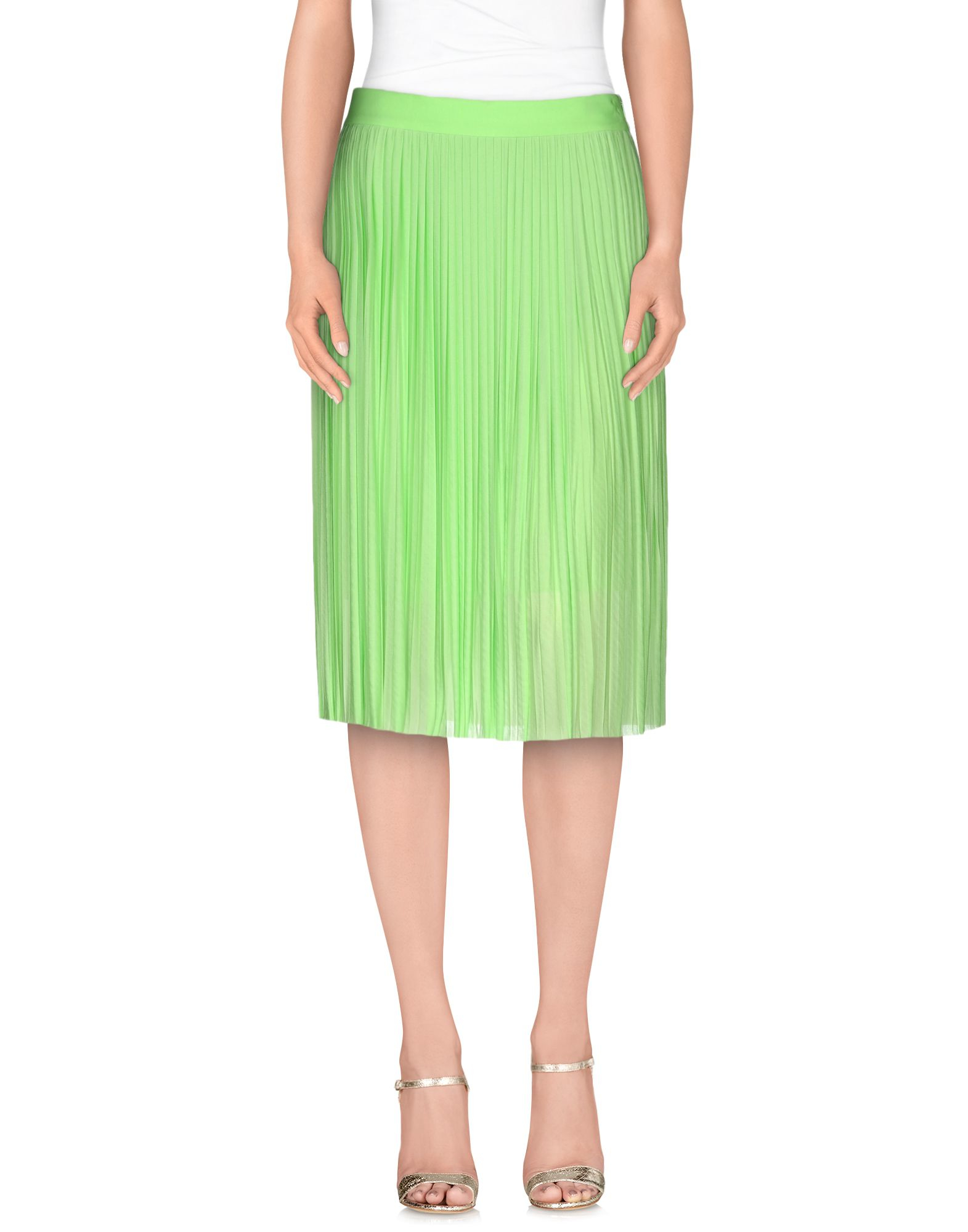 frankie morello knee length skirt in green lyst