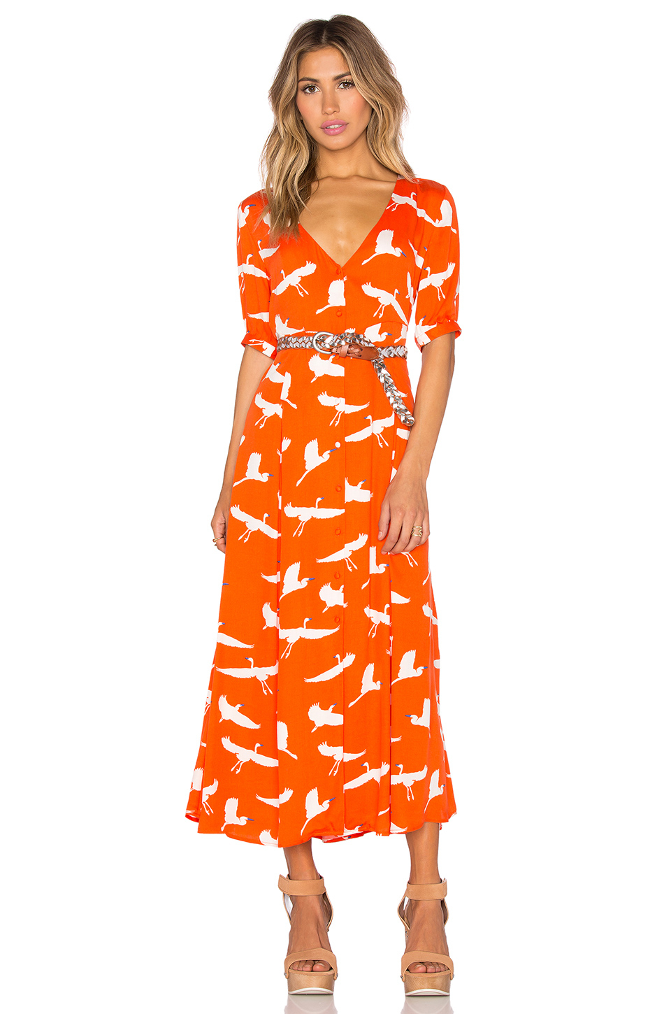 34849eaacd Somedays Lovin Great Heights Maxi Dress in Orange - Lyst