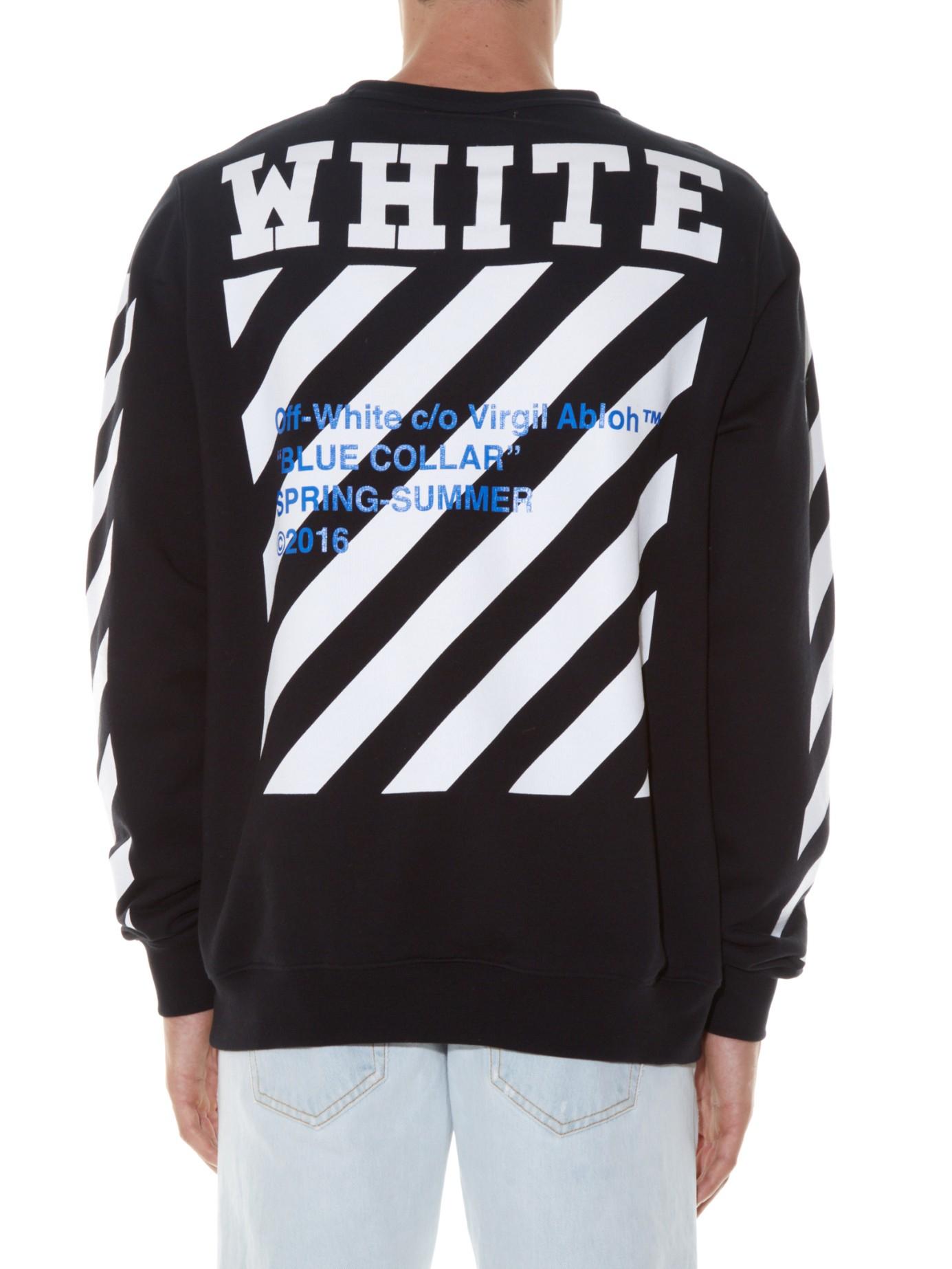 87daedcdb3ff Lyst - Off-White c o Virgil Abloh Logo-print Sweatshirt in Black for Men