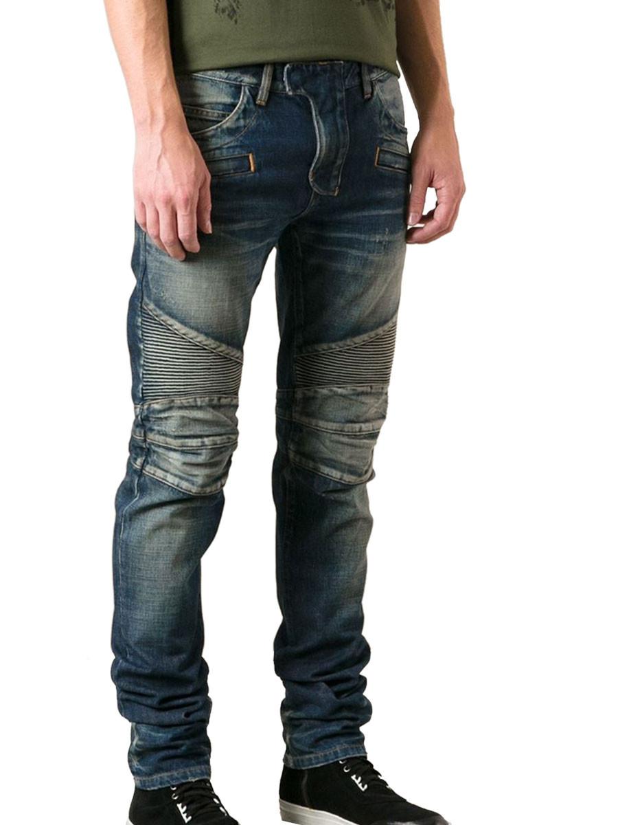 balmain jeans blu in blue for men blu lyst. Black Bedroom Furniture Sets. Home Design Ideas