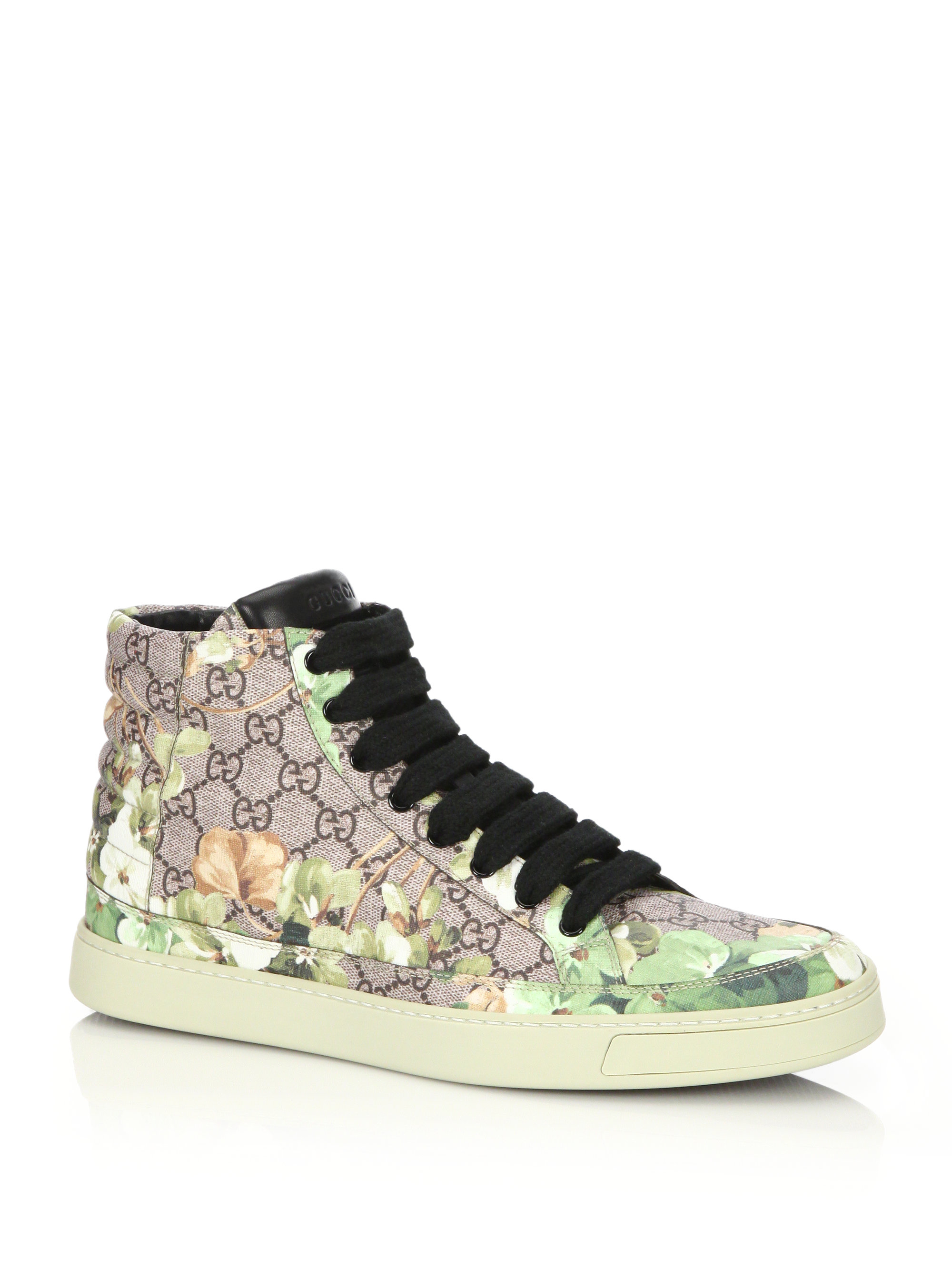 c6ebbde379d Lyst - Gucci Blooms Print High-top Sneakers for Men