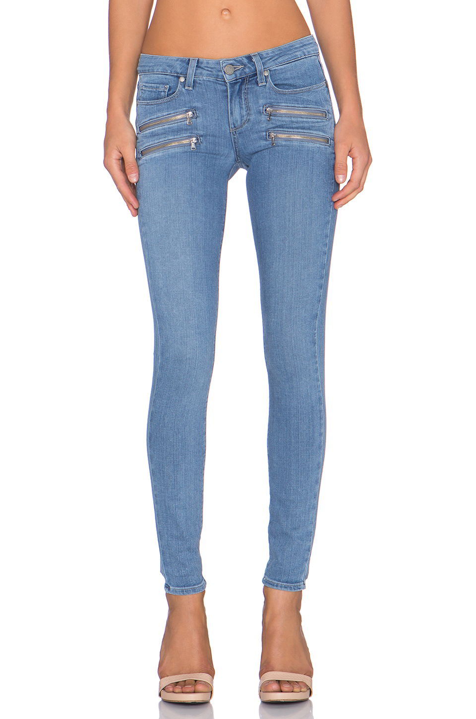 Lyst Paige Edgemont Ultra Skinny In Blue