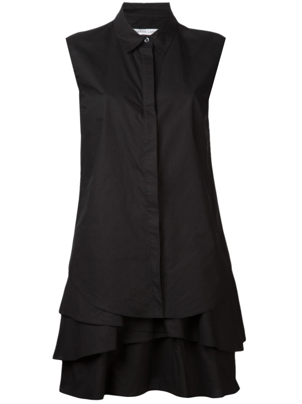 10 Crosby Derek Lam Ruffle Shirt Dress In Black Lyst