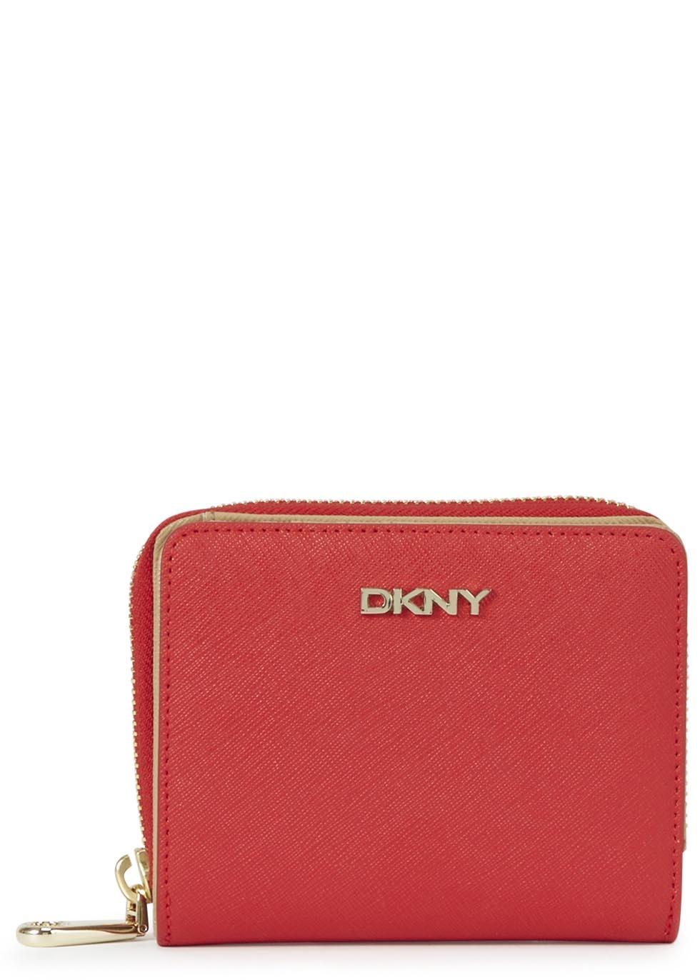 DKNY Black R3326507 Saffiano Women's Zip Around Wallet |Dkny Wallet