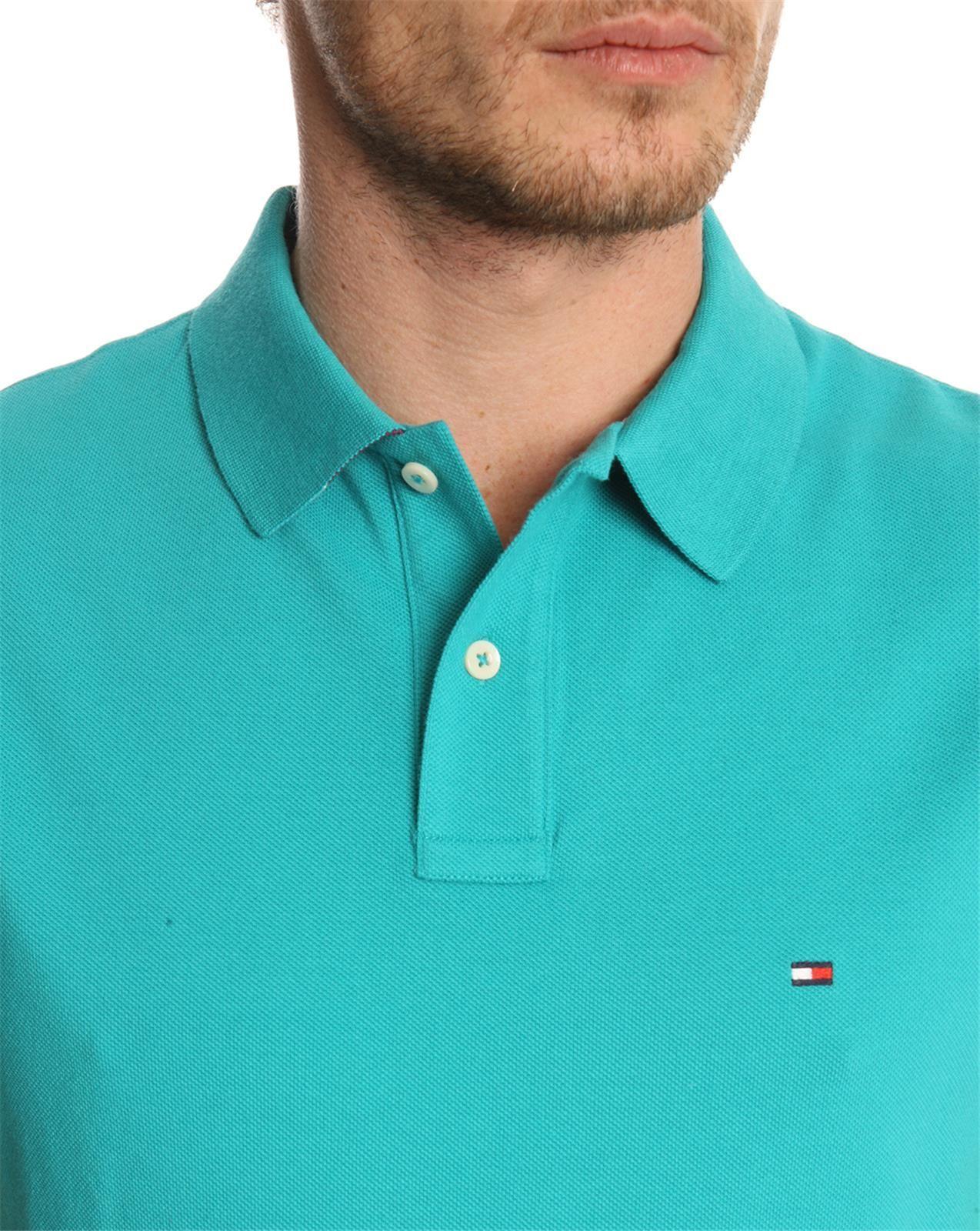 tommy hilfiger slim fit polo shirt in green for men emerald lyst. Black Bedroom Furniture Sets. Home Design Ideas