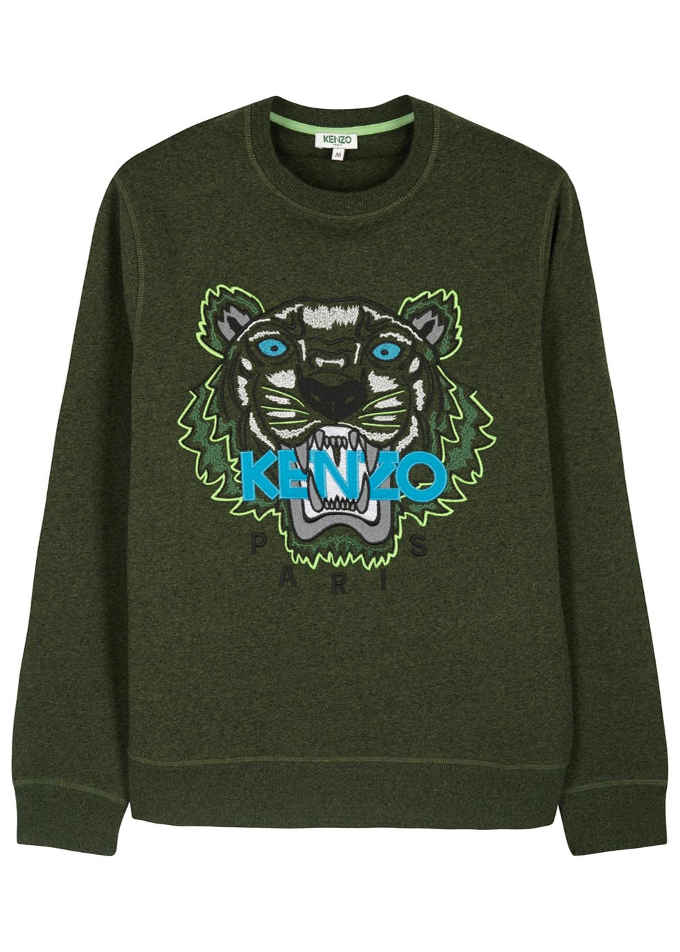 6297d1536 KENZO Green Tiger Cotton Sweatshirt in Green for Men - Lyst