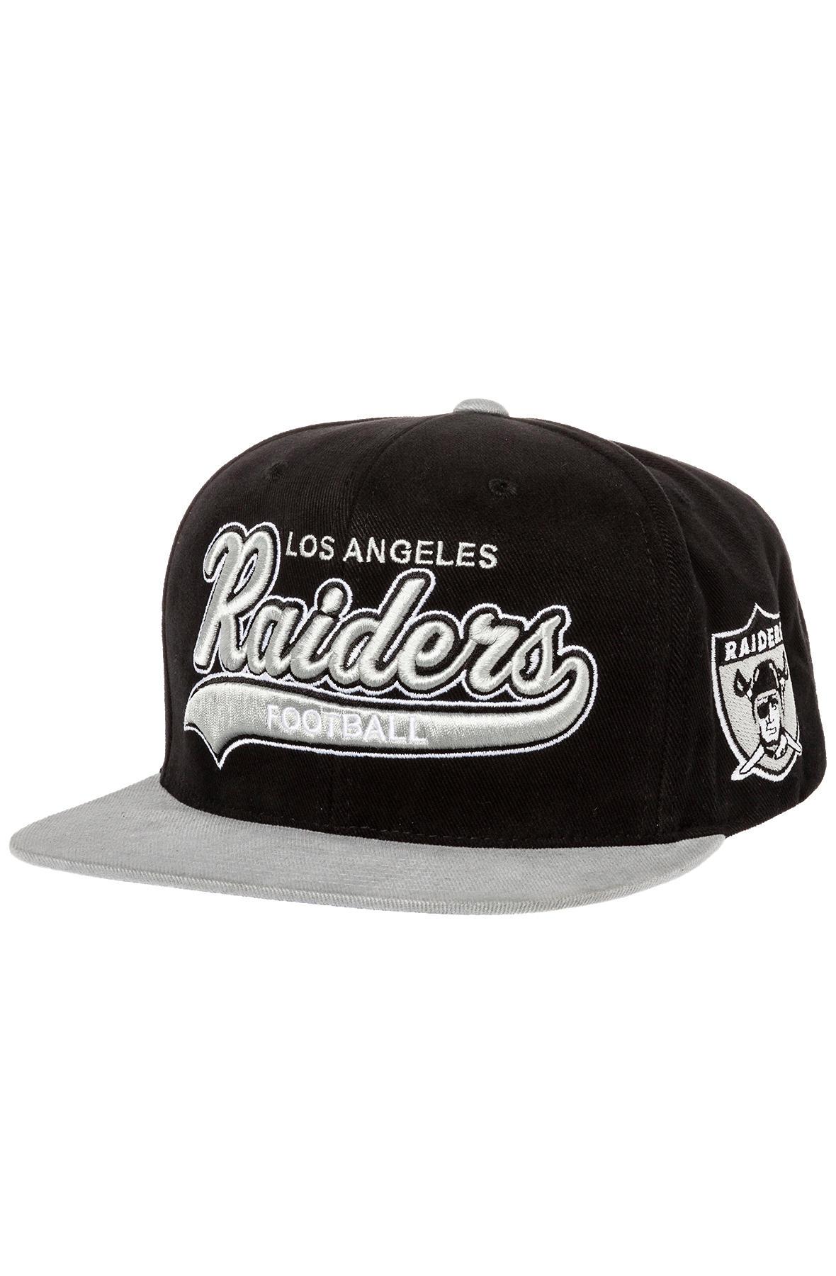 0516a724440 Lyst - Mitchell   Ness The Oakland Raiders Xl Logo 2tone Snapback ...