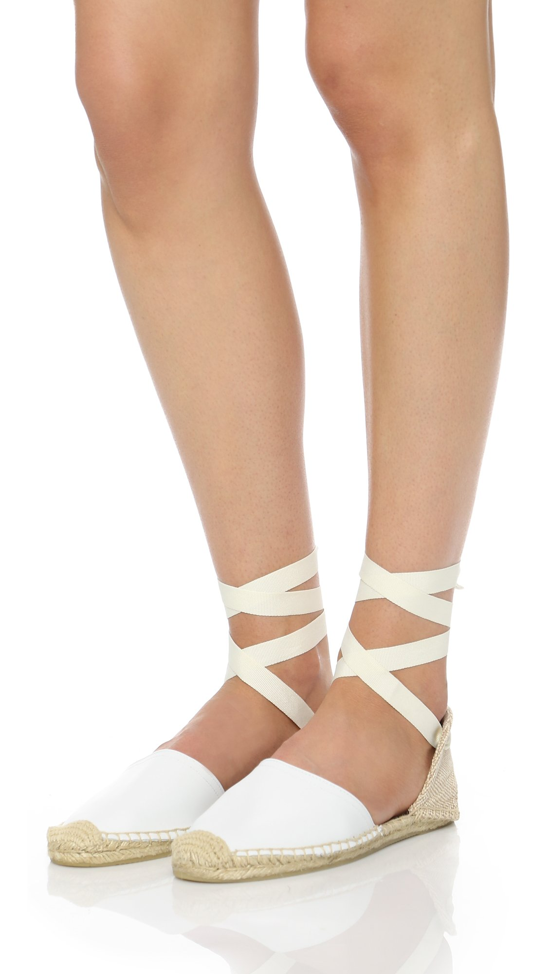 75fb05396359d Lyst - Soludos Leather Espadrille Sandals in White
