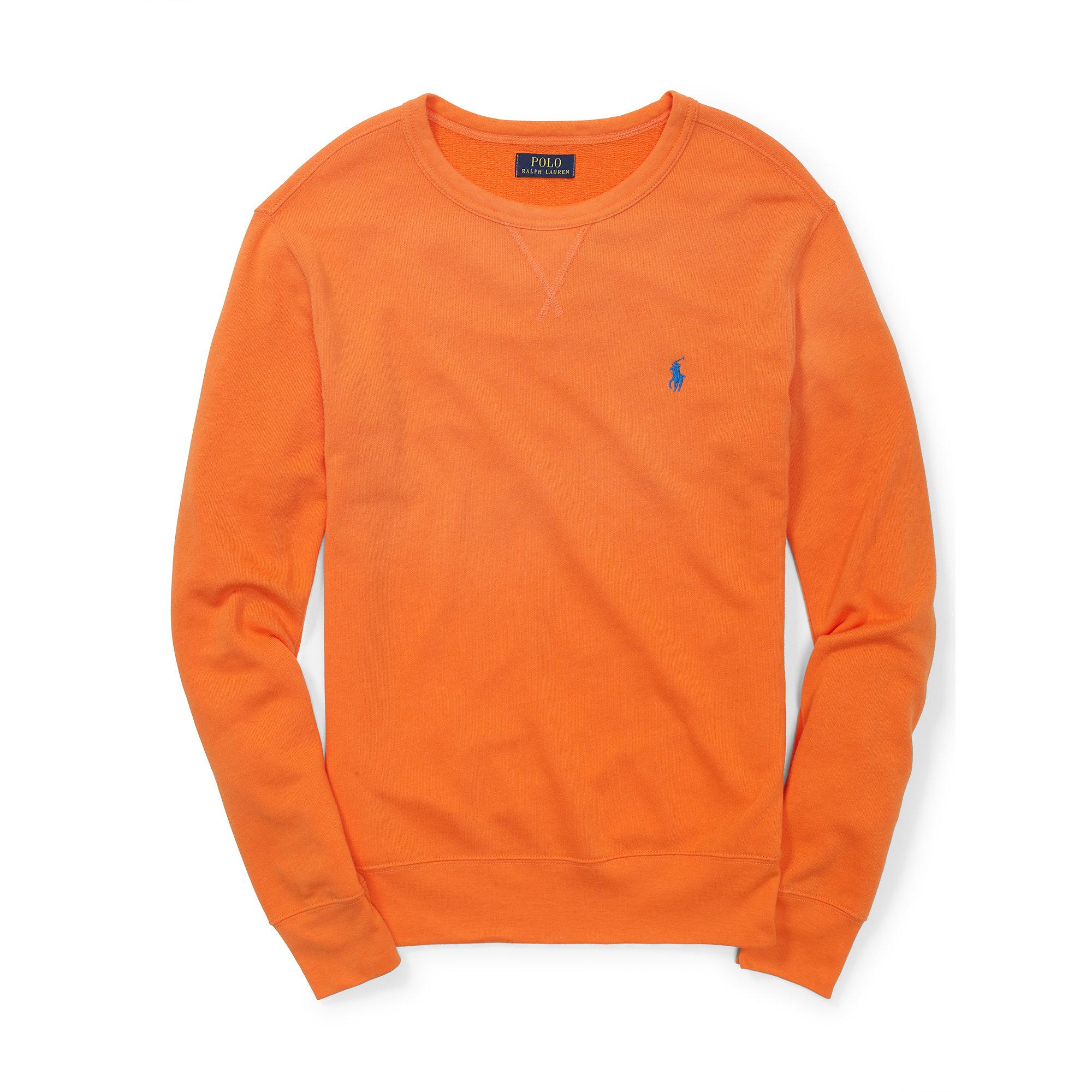 3944fb4bf ... new zealand lyst polo ralph lauren french terry sweatshirt in orange  for men 34642 2f3b8
