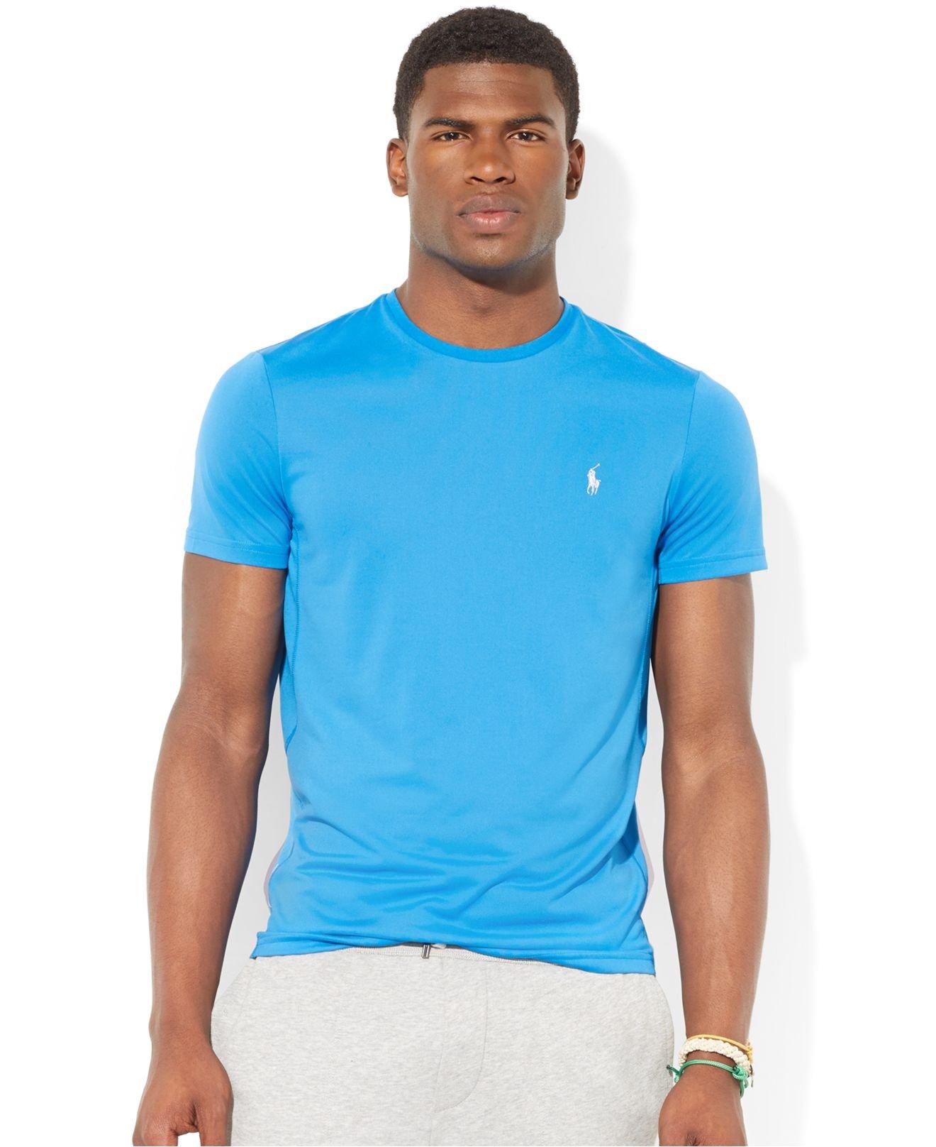 Polo ralph lauren jersey performance t shirt in blue for for Ralph lauren polo jersey shirt