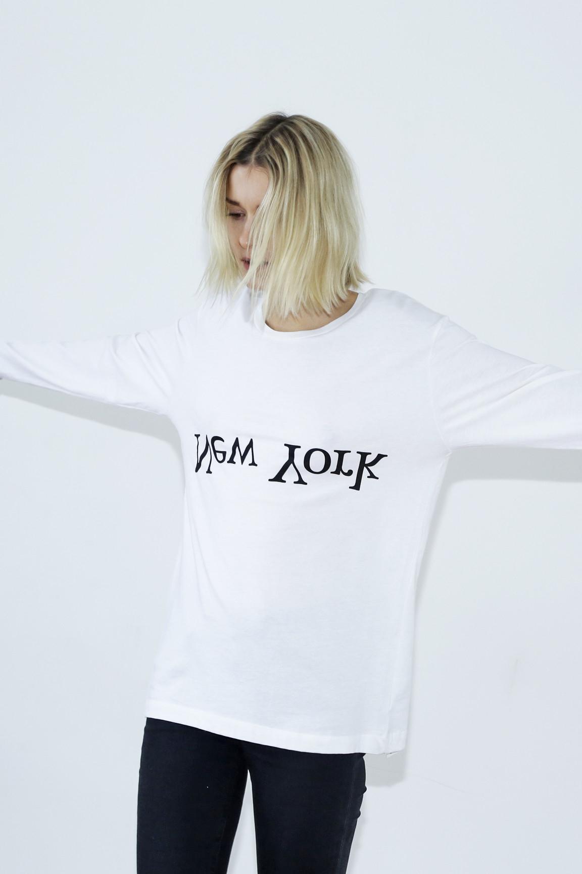Lyst - Assembly Long Sleeve Logo T-shirt in White for Men