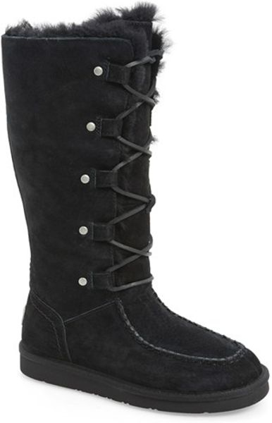 Ugg Black Appalachian Water Resistant Lace Up Boots Lyst