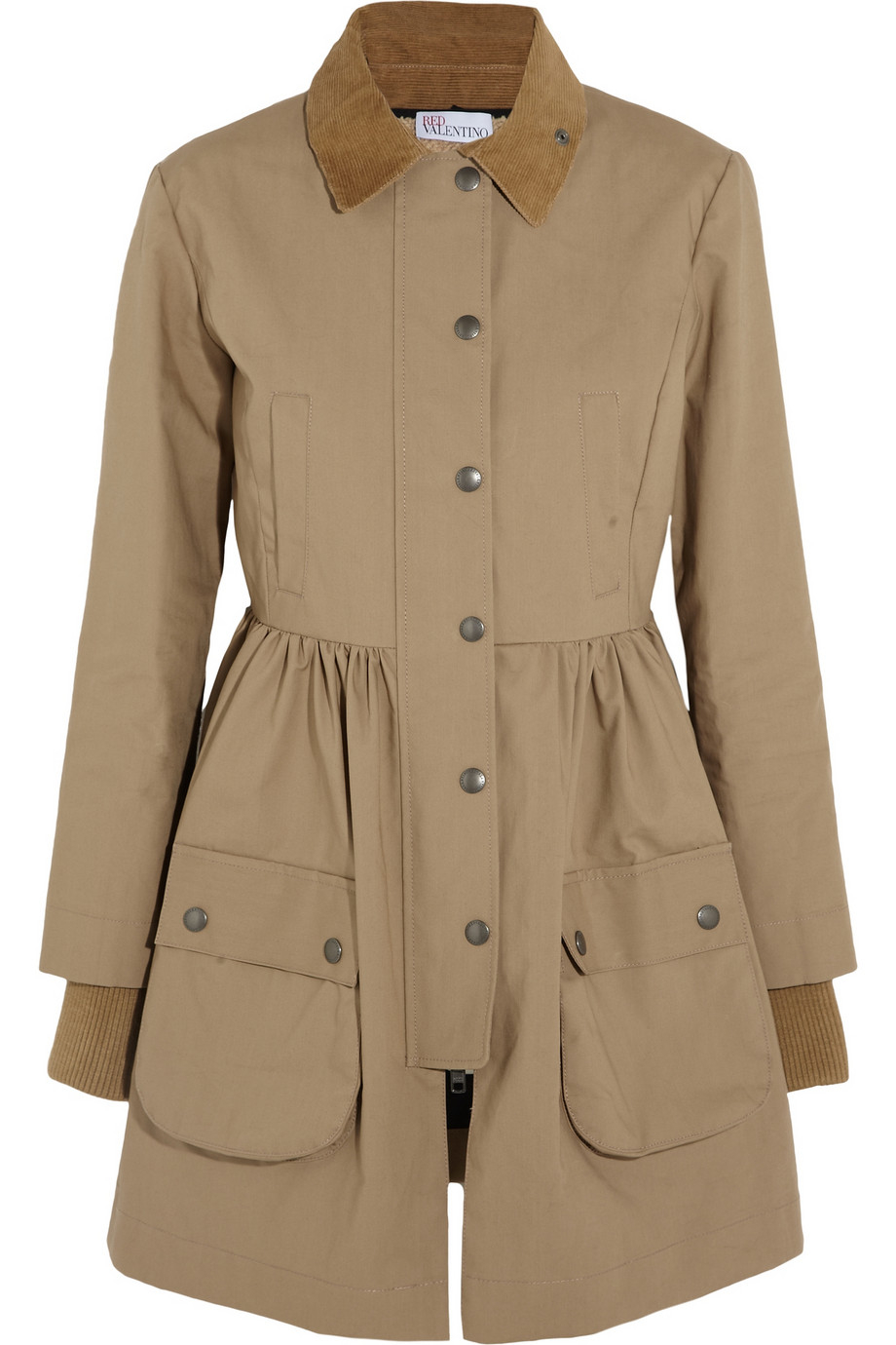 Red valentino Cotton Mackintosh Coat in Natural