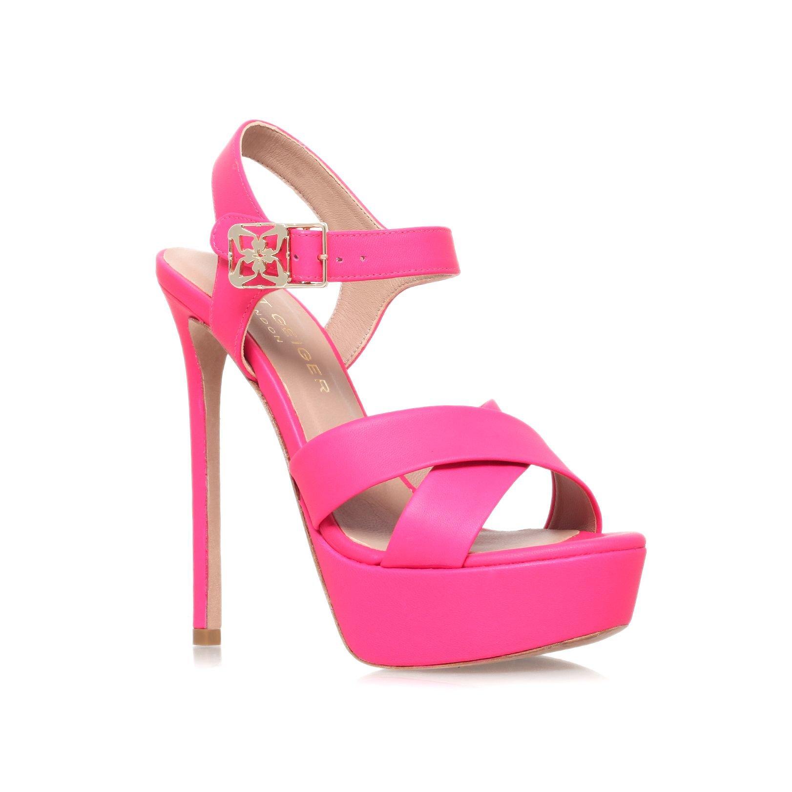 Kurt geiger Blossom High Heel Platform Sandals in Purple | Lyst