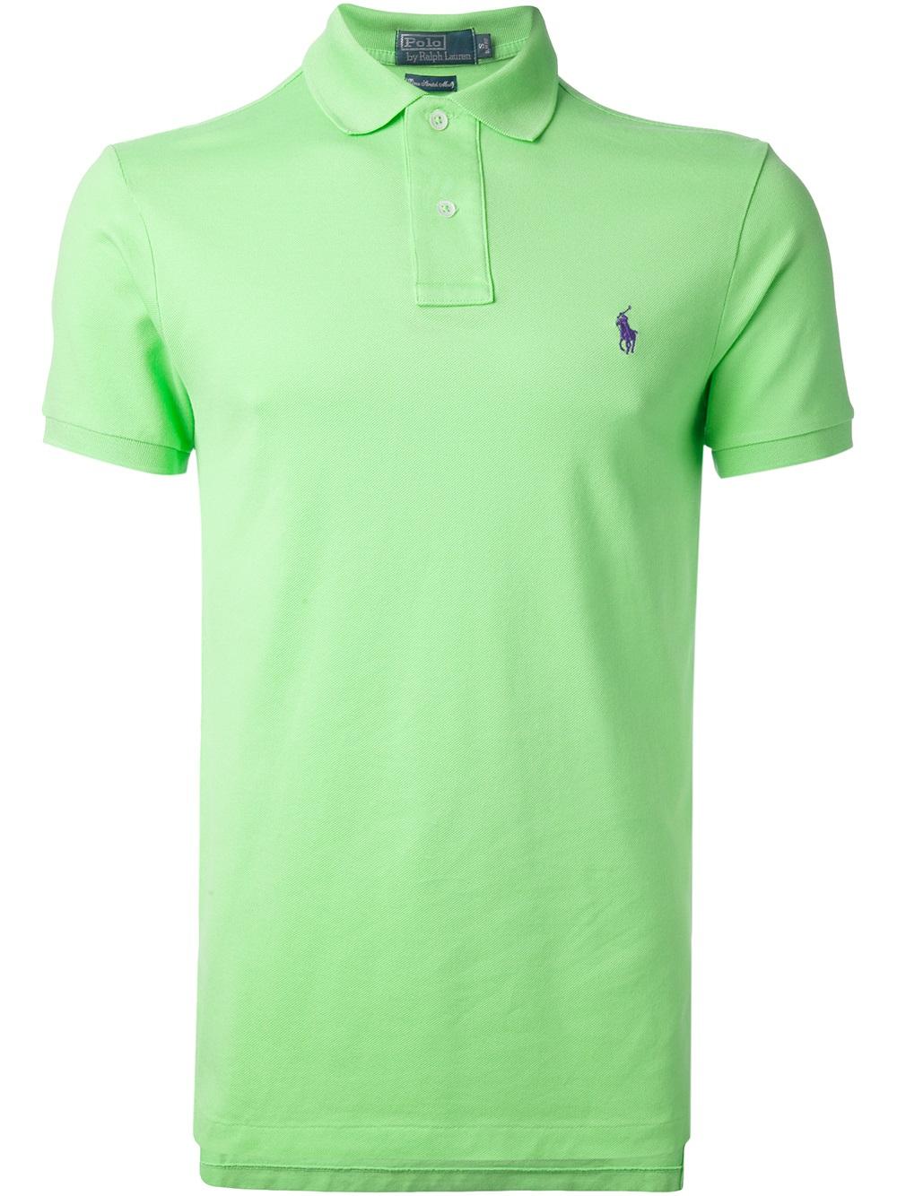 For Lauren Ralph Lyst Green Polo Classic Shirt Men In qUzSMVGLp