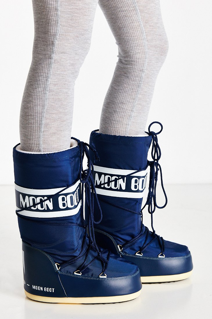 Lyst Tecnica Nylon Moon Boot In Blue