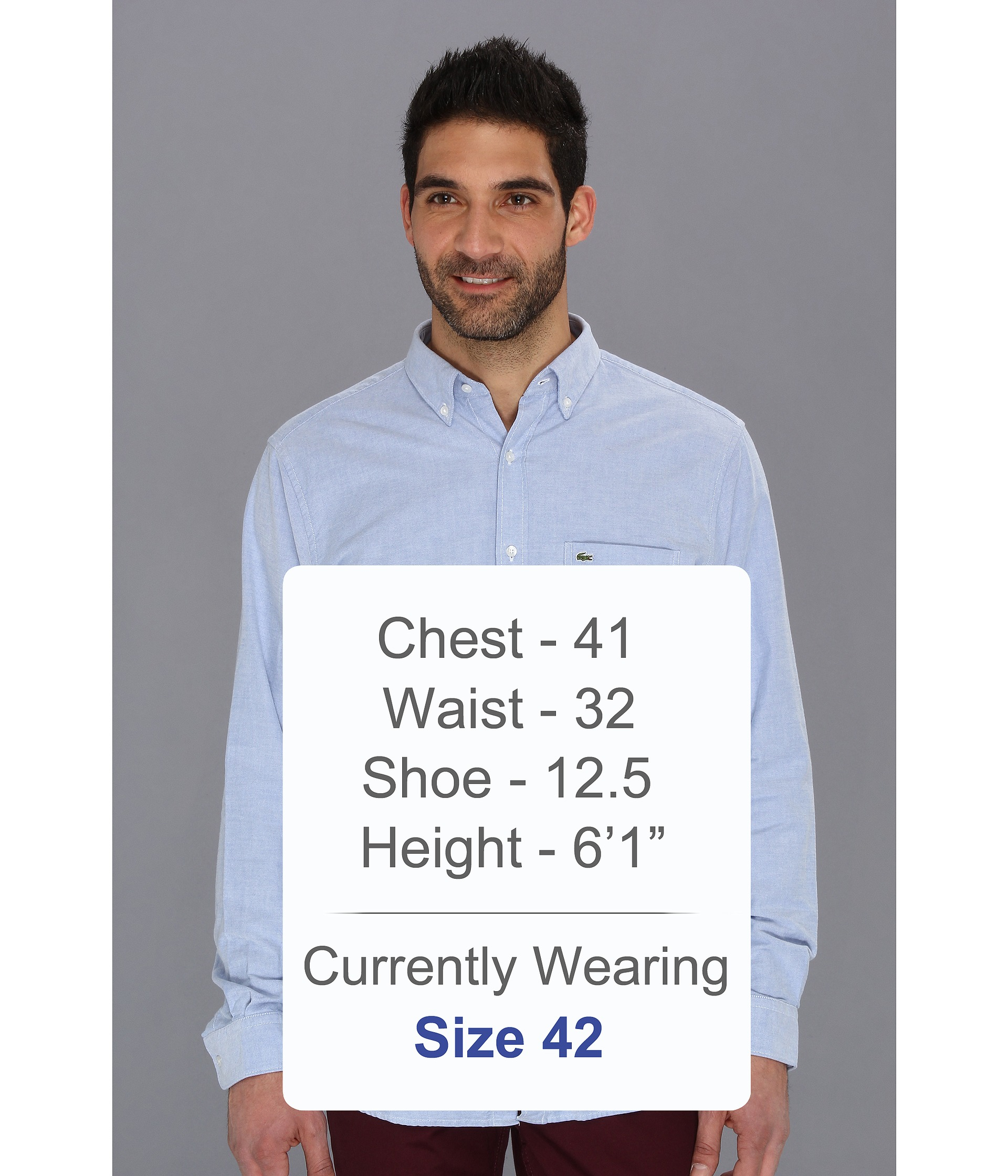 11031c9dee Lacoste Blue Long Sleeve Button Down Oxford Woven Shirt for men