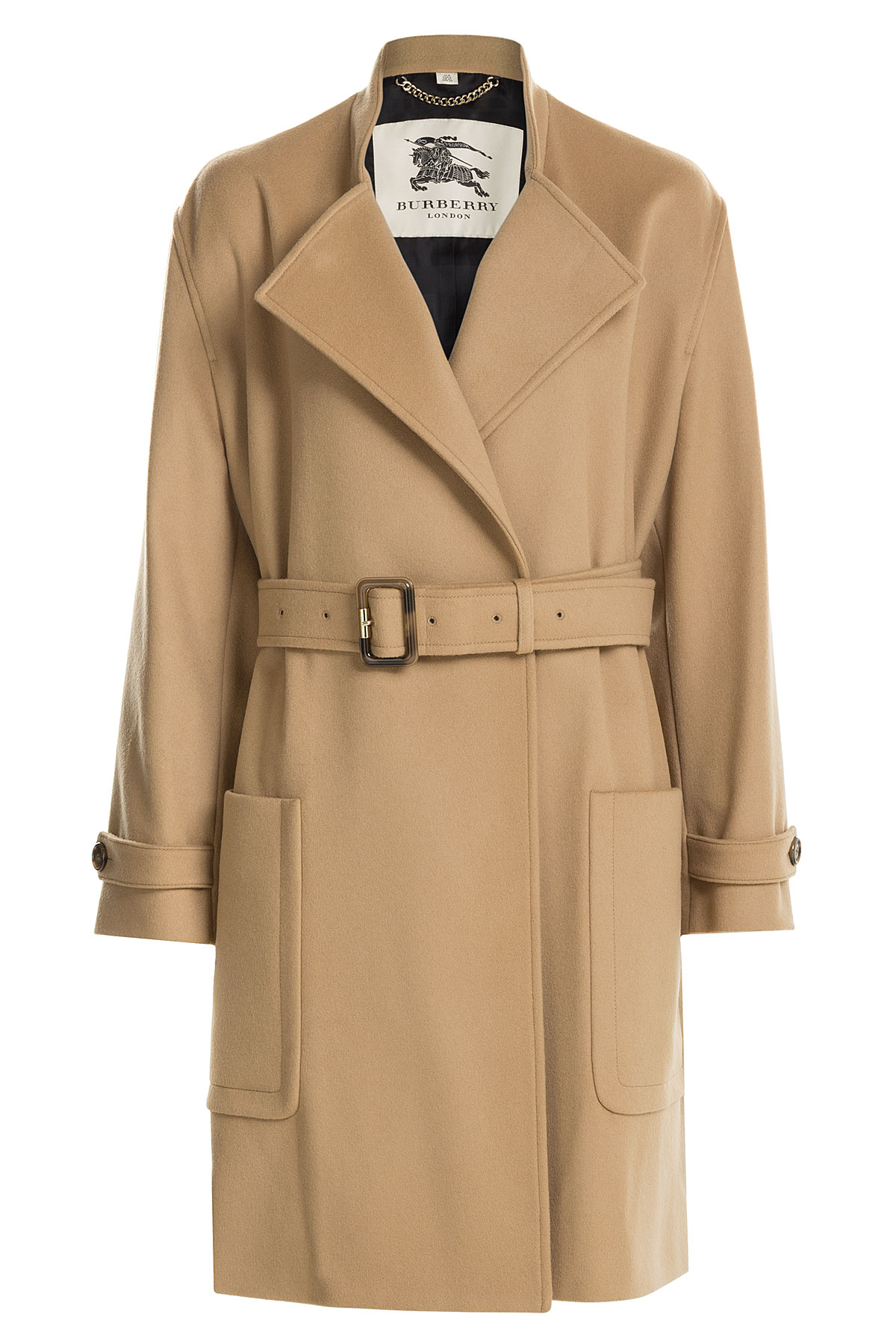 Burberry Wool-cashmere Trench Coat - Camel in Natural | Lyst