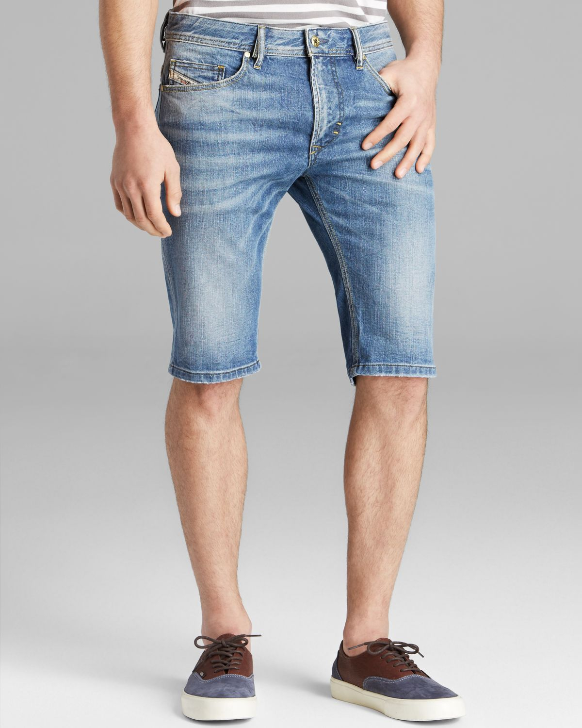 517c06c901 DIESEL Thashort Denim Shorts in Blue for Men - Lyst