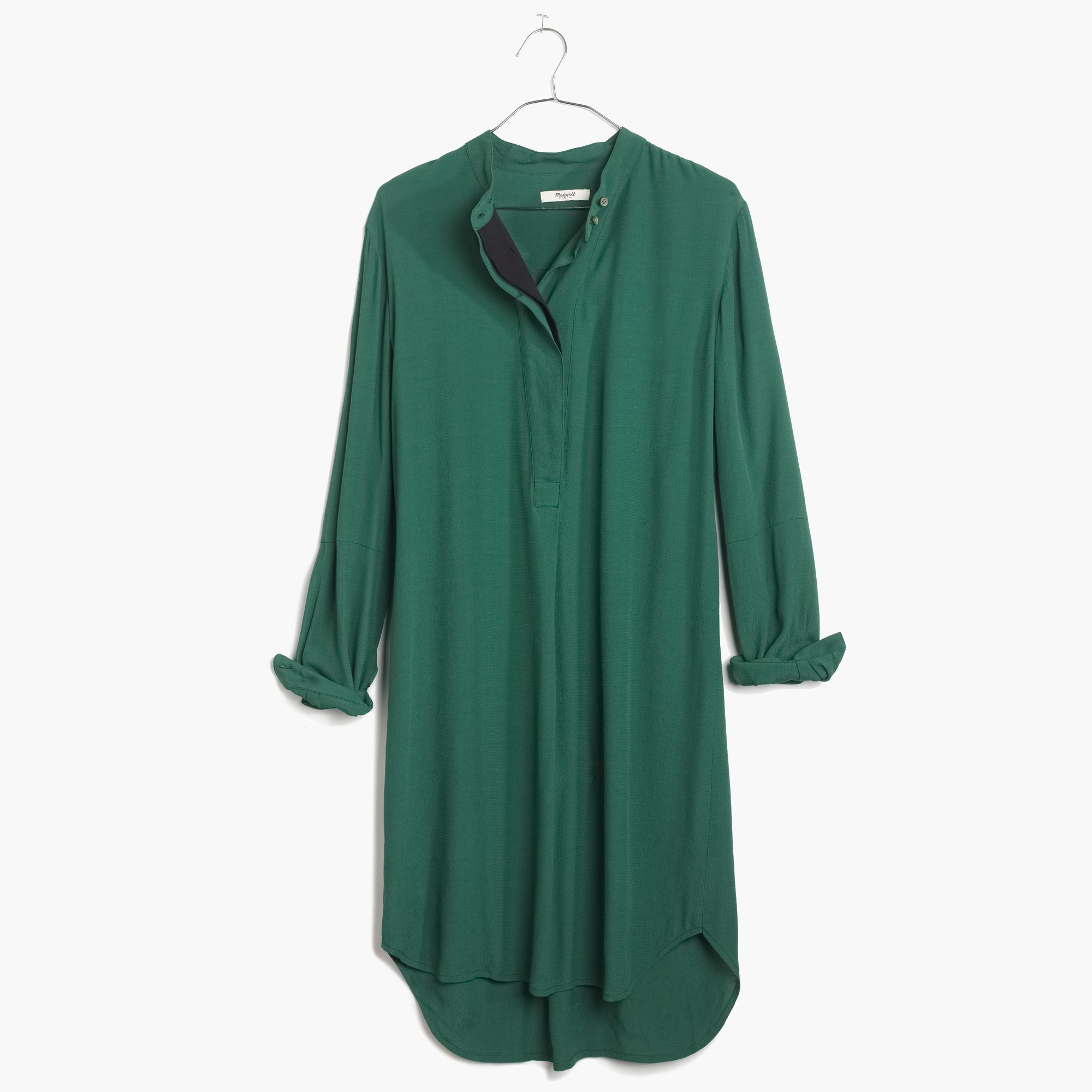 925309f9fed Madewell Long-Sleeve Tunic Dress in Green - Lyst