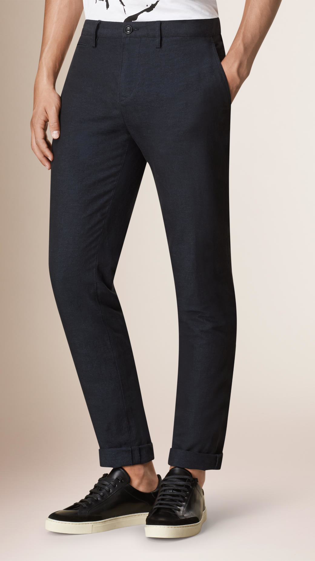 Manchester Great Sale For Sale Mid-rise slim-leg jersey trousers Burberry Excellent Cheap Price Buy Cheap Deals How Much For Sale Clearance Get Authentic MtTsw8Bp