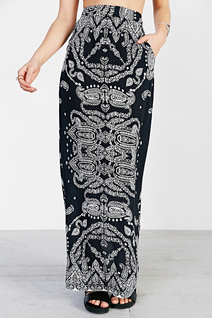 Black Straight Maxi Skirt | Jill Dress
