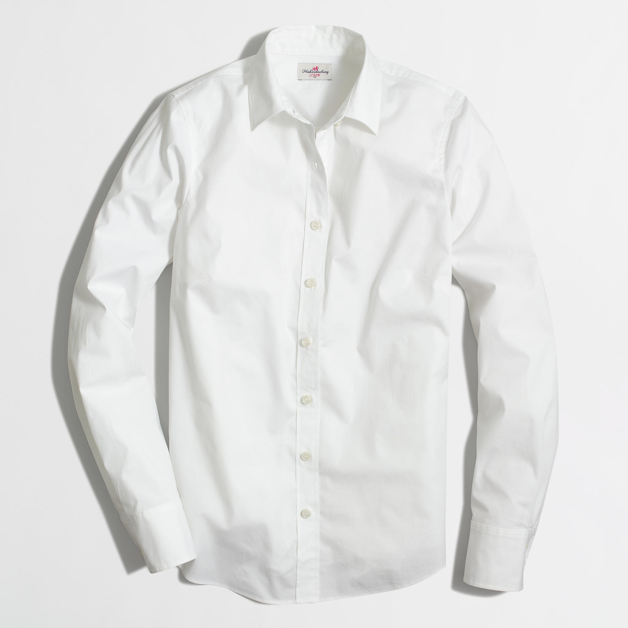 factory petite stretch classic button down shirt in