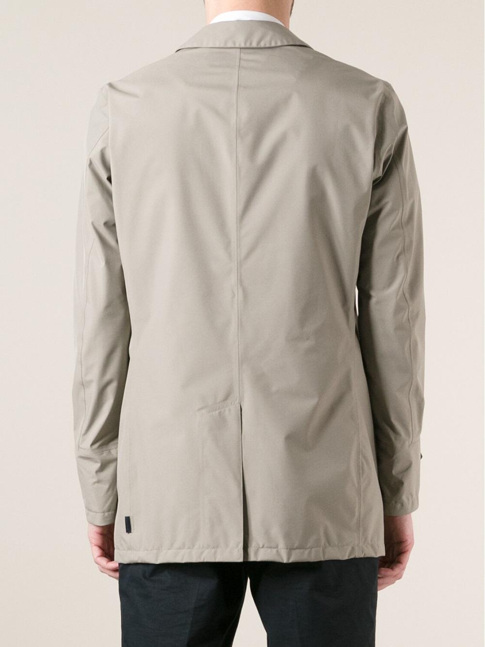 Herno Short Rain Jacket in Gray for Men | Lyst