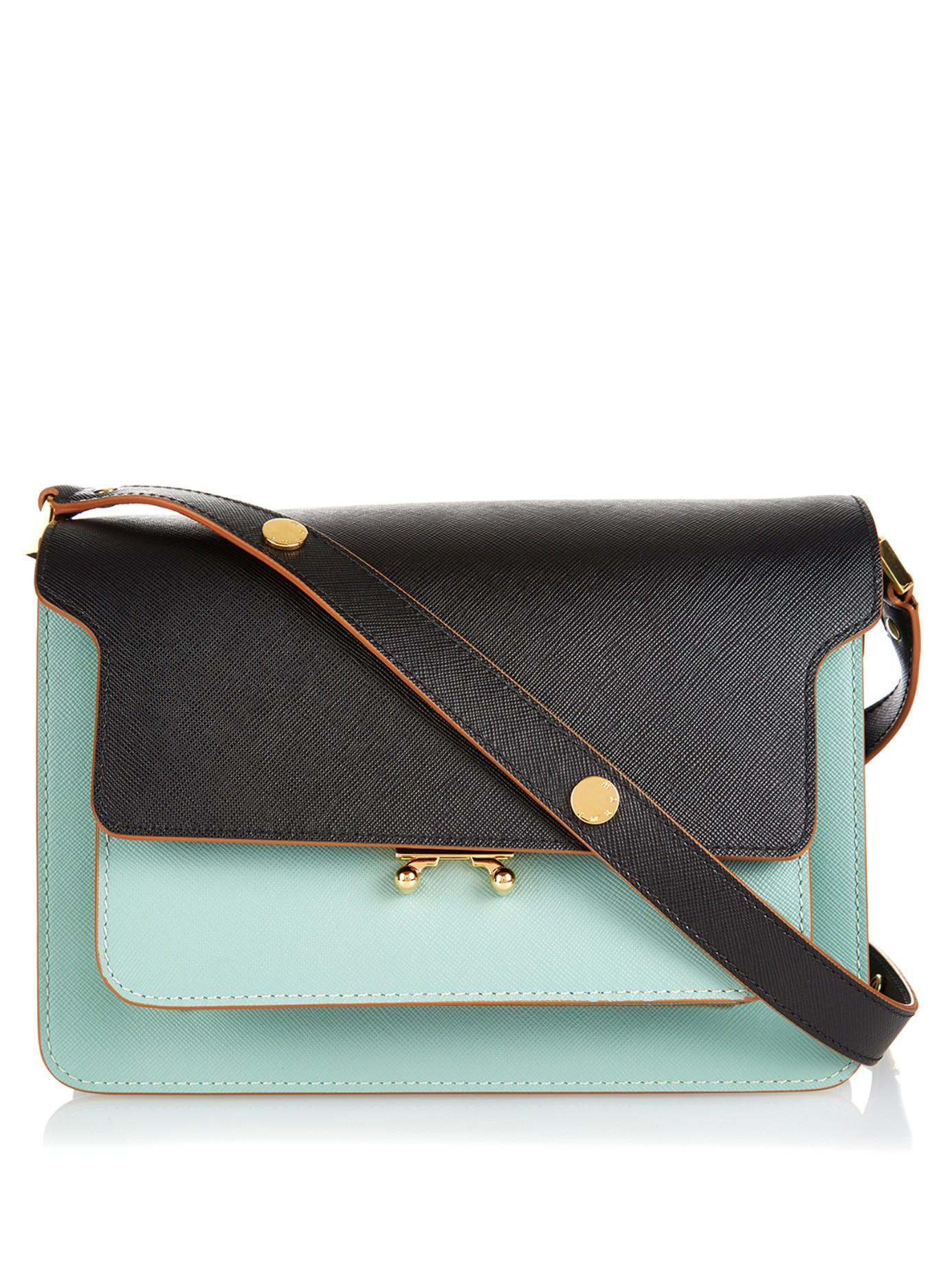 Lyst Marni Trunk Medium Bi Colour Leather Shoulder Bag