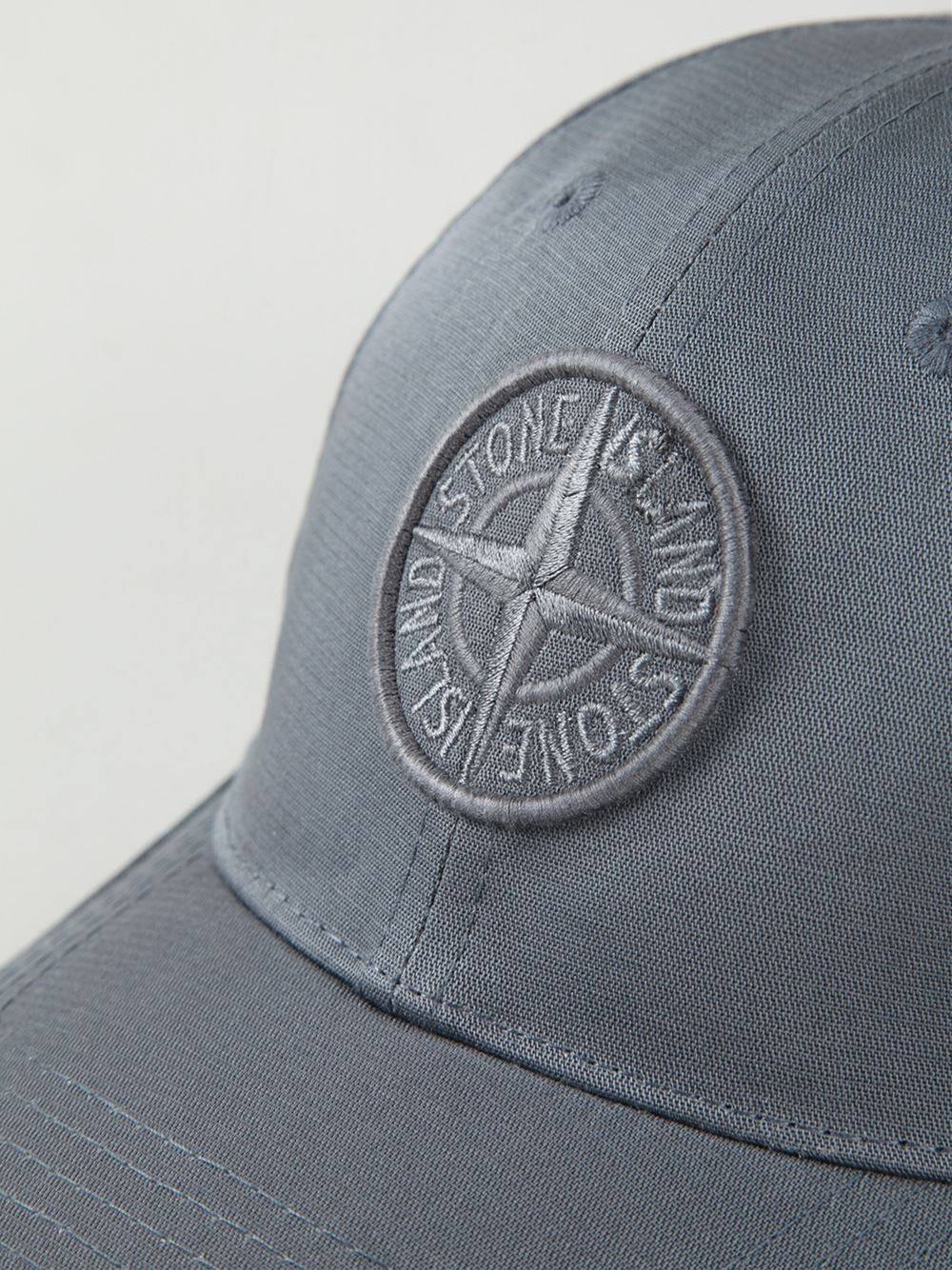 854459a47 Stone Island Gray Logo Embroidered Cap for men
