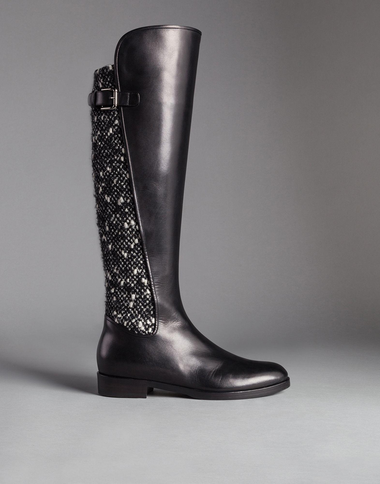 Dolce & Gabbana Boots calfskin bordeaux 4FxfDVdWA
