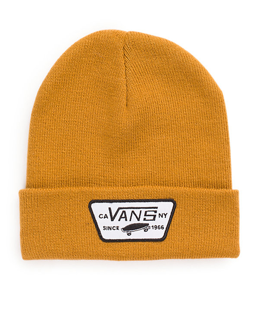 8191eb9d40089 Vans Milford Beanie Brown in Yellow for Men - Lyst