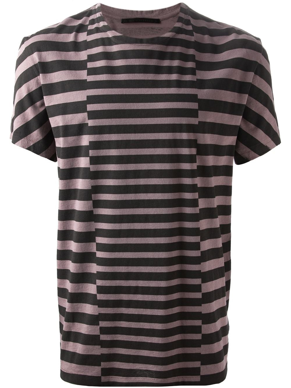 Haider ackermann striped t shirt in pink for men pink for Purple and black striped t shirt