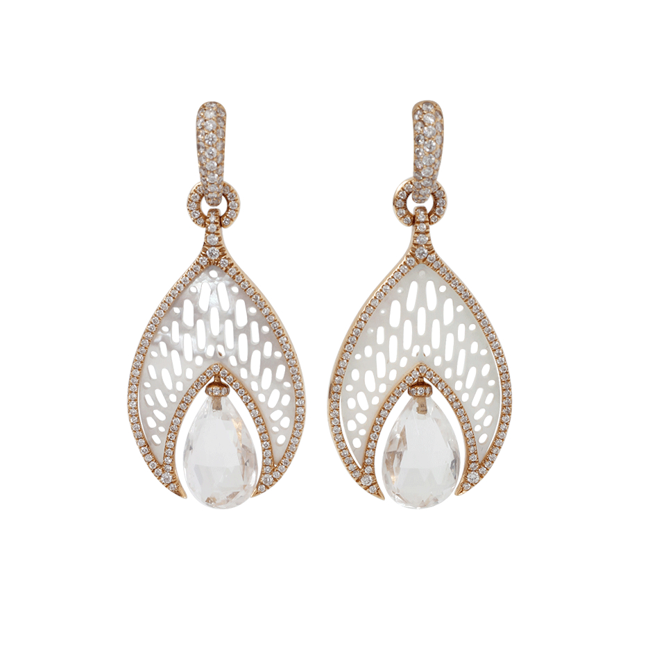 lyst inbar quartz drop mother of pearl earrings in white. Black Bedroom Furniture Sets. Home Design Ideas