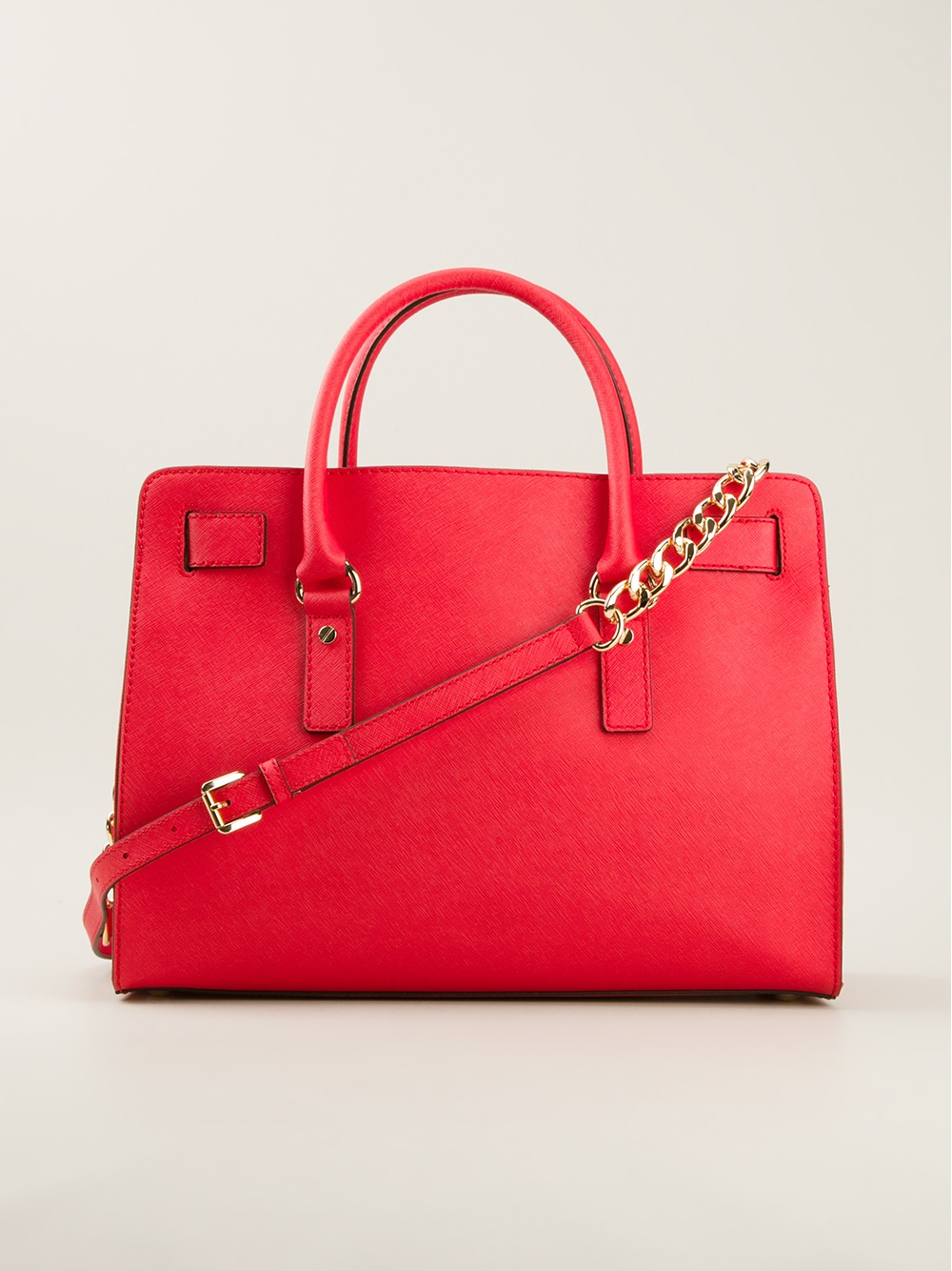 Michael Kors Hamilton Tote in Red